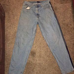 Tommy Hilfiger Jeans - Vintage Blue Pinstriped Tommy Hilfiger